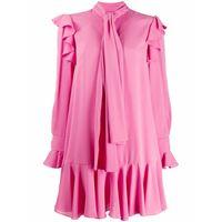 ALEXANDER MCQUEEN vestito donna 605641qbaaf5034 seta rosa