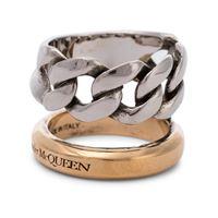 Alexander McQueen anello con catena