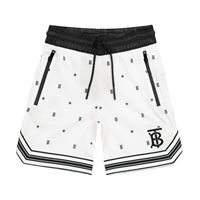 Burberry Kids shorts a stampa in tessuto tecnico