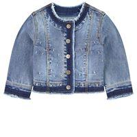 Mayoral - bambina - giacca denim blu - 24 mesi - blu