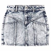Les Coyotes De Paris bambino - tanja acid denim gonna blu - bambina - 16 anni - blu