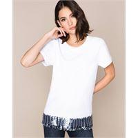 My Twin Set t-shirt con paillettes e strass / bianco