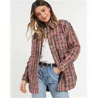 Maison Scotch - camicia giacca in tweed rosa