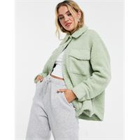 Monki - hazel - camicia giacca verde chiaro