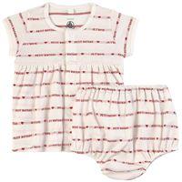 Petit Bateau - bambina - je t'aime vestito da bambino bianco - 6 mesi - rosso
