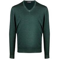 Drumohr maglione con scollo a v - verde
