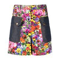 Boutique Moschino shorts a fiori - viola