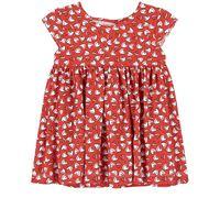 Mayoral - bambina - floral vestito rosso - 6 mesi - rosso