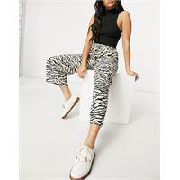 Selected femme - gonna pantalone con stampa animalier, colore neutro in coordinato-multicolore