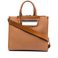 Hogan borsa shopper con applicazione - marrone