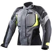 LS2 giacca moto phase lady jacket grey black yellow | LS2