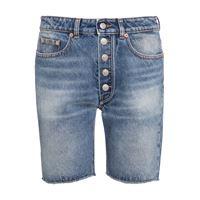 MM6 Maison Margiela shorts di jeans a vita alta
