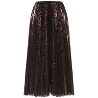RALPH LAUREN COLLECTION gonna midi in tulle con paillettes