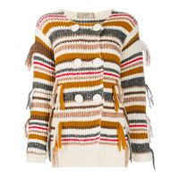 MAISON FLAN cardigan a righe