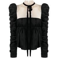 Khaite blusa con pannelli a contrasto donna black