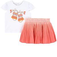 Mayoral - bambina - sandal print set gonna rosa - 6 mesi - rosa
