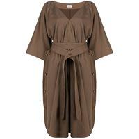 Lemaire vestito con scollo a v - marrone