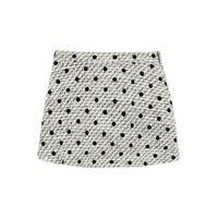 VALENTINO shorts tweed a pois 40 bianco, nero lana