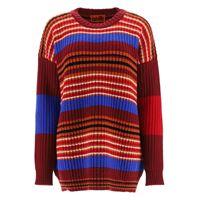 COLVILLE pullover a righe s rosso, blu, bianco lana