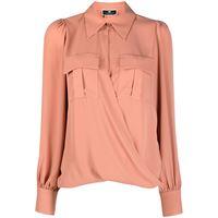 Elisabetta Franchi camicia a portafoglio - rosa