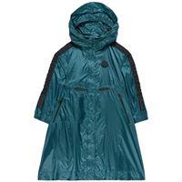 Moncler bambini - bambina - urville hooded giacca a vento verde petrolio - 12 anni - bianco
