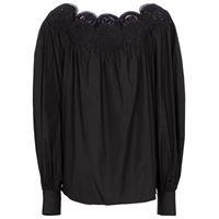 Alaïa blusa in popeline di cotone