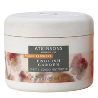 atkinsons (euroitalia luxe) english garden peach flowers crema corpo addolcente 250ml