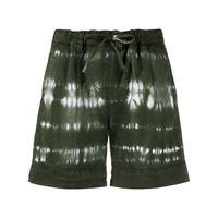 P.A.R.O.S.H. shorts con fantasia tie-dye - verde