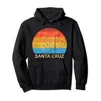 Santa Cruz Beach Giftidea Surfer santa cruz anni '70 anni '80 anni '90 felpa con cappuccio