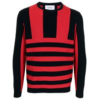 Ports V maglione a righe - rosso
