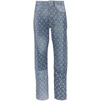 Marine Serre jeans dritti - blu