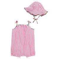 Polo Ralph Lauren Kids baby - pagliaccetto e cappello a righe in cotone