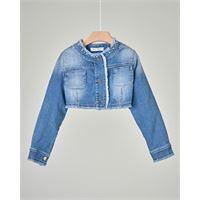 Elsy giacca corta in denim stretch con taschine 3-4 anni