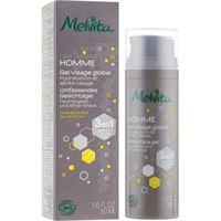 Melvita gel viso 3in1, per uomo - Melvita homme gel visage global 3in1 50 ml
