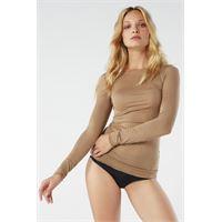 Intimissimi maglia in modal ultralight con cashmere con scollo a barchetta marrone