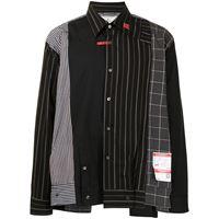 Maison Mihara Yasuhiro camicia con stampa asimmetrica - nero