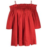 Uma Wang blusa con spalle scoperte - rosso