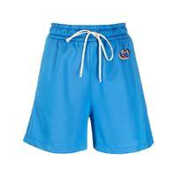 Gucci shorts sportivi con ricamo gg - blu