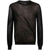 Maison Margiela maglione semi trasparente - nero