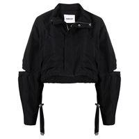 AMBUSH giacca crop con dettaglio cut-out - nero