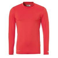 uhlsport shirt funktionsshirt la, maglietta sportiva uomo, rosso (rosso), 152