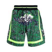adidas shorts con stampa grafica - verde