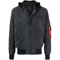 Alpha Industries giacca ma-1 lw hd riflettente - nero