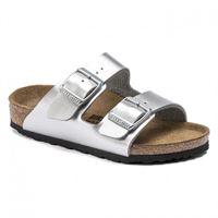 Birkenstock kids arizona metallic silver sandali ragazza