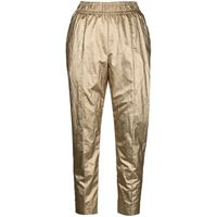 Nude pantaloni skinny metallizzati crop - oro