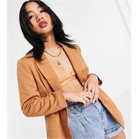 Y.A.S Petite - blazer in jersey cammello in coordinato-marrone