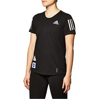 adidas gp5828 space tee w t-shirt donna black m