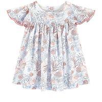 Tartine et Chocolat - sea life vestito bianco - bambina - 3 mesi - blu