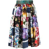 Dolce & Gabbana minigonna con stampa patchwork - bianco