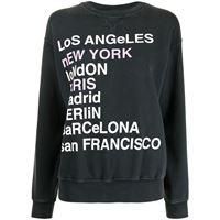 ANINE BING felpa city names - grigio